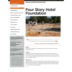 Case History - Four Story Hotel Foundation (CH04086E)