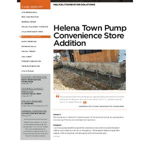 Case History - Helena Town Pump (CH04114E)