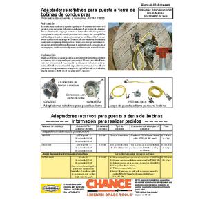 Adaptadores rotativos para puesta a tierra de bobinas de conductores