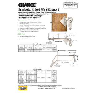 Brackets, Shield Wire Support (5-53-33)