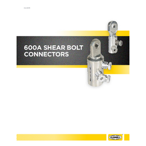 600A Shear Bolt Connectors Catalog (CA03065E)