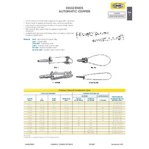 Distribution Connectors - Overhead Deadends (DA)