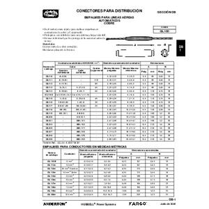 Distribution Connectors - Splices (DB) Spanish