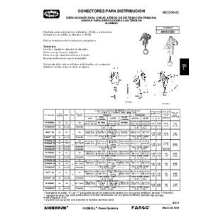 Distribution Connectors - Tap & Stirrup Clamps (DC) Spanish
