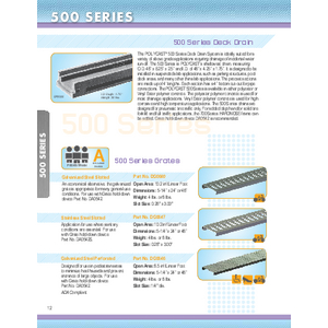 Trench Drains - 500 Series (PC-1)