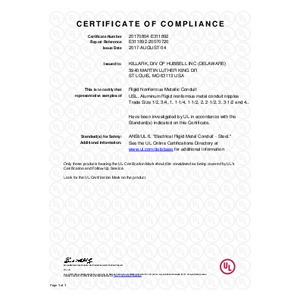AN Series UL Certificate of Compliance