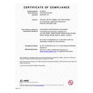 BUIG Series UL Certificate Of Compliance