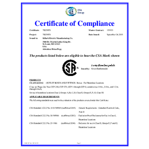 CUP Series CSA Certification