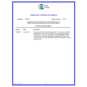 CUP Series CSA Certification Supplement