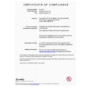 CUP & PLUG Series UL Certification
