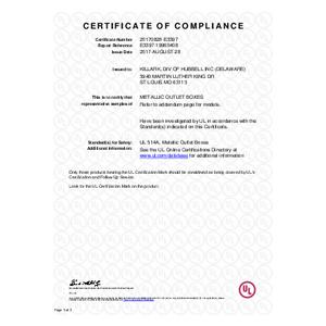 Duraloy 7 UL Certificate of Compliance