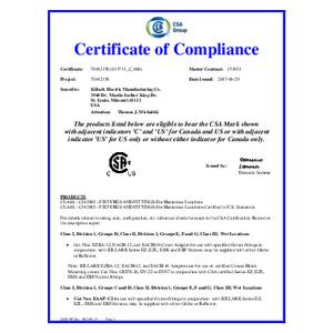 EACH & EZBA Adapters CSA Certification
