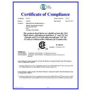 EBS Series CSA Certification