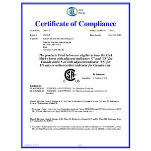 EBS Series CSA Certification