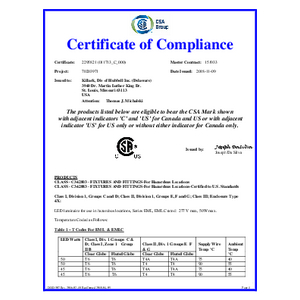 EML/EMLC Series CSA Certification