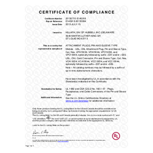 150A Versamate UL Certification