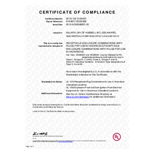 60A VSQ Series UL Certification