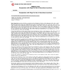 Vantage Plugs & Recptacles UL