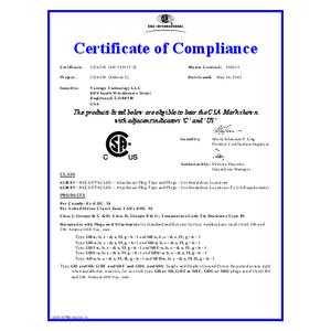 Vantage Plugs & Receptacles CSA