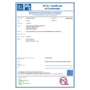 XP Star-Line Series IECEx Certificate