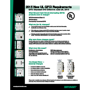 2015 UL GFCI Requirements