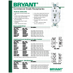 General Literature - Commercial Grade Receptacles and Switches