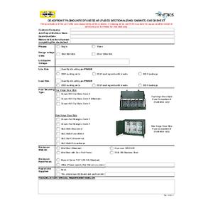 Dead Front Fusegear Checklist