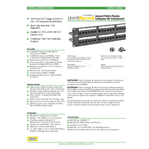NEXTSPEED® Category 6A Patch Panels