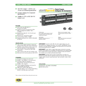 NEXTSPEED® Category 5e Patch Panels