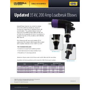 35kV, 200 Amp Loadbreak Elbows (SF03001E)