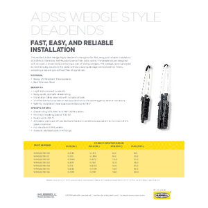 ADSS Wedge Style Deadends (SF05056E)