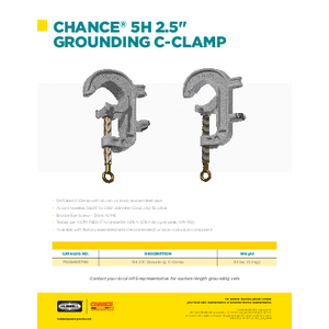 5H Bus Bar Clamp Sales Flyer (SF09195E)