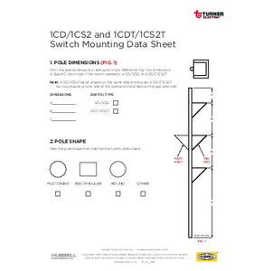 1CD/1CS2 and 1CDT/1CS2T Switch Mounting Data Sheet (TD10137E)