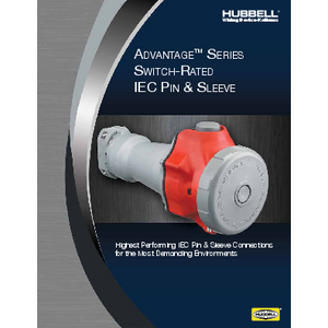 General Literature - 30 Amp Advantage Series Switch-Rated IEC Pin & Sleeve