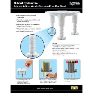 Adjustable Non-Metallic Concrete Floor Box Stand