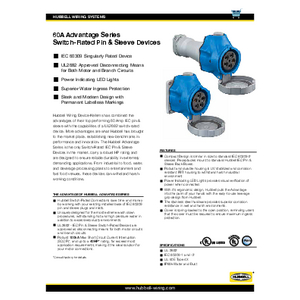 60A Advantage Series Switch-Rated Pin & Sleeve Devices