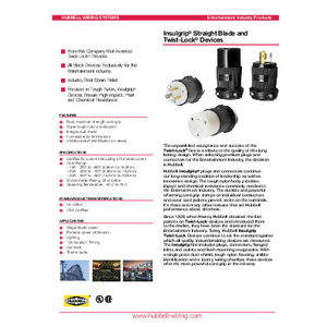 General Literature - Insulgrip® Straight Blade and Twist-Lock® Devices