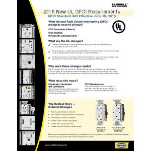General Literature - 2015 New UL GFCI Requirements