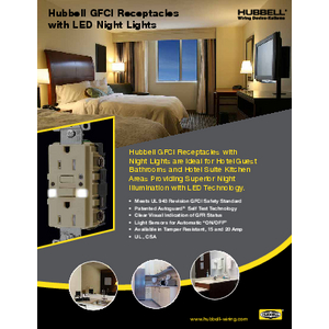 GFCI Receptacles with LED Night Lights
