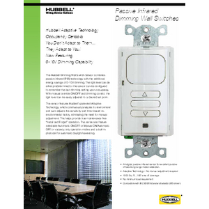 Passive Infrared Dimming Wall Switches