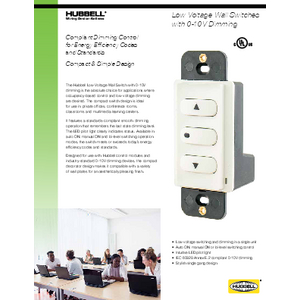 Low Voltage Wall Switches with 0-10V Dimming