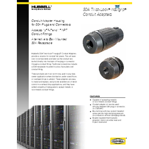 50A Twist-Lock® Insulgrip® Conduit Adapters
