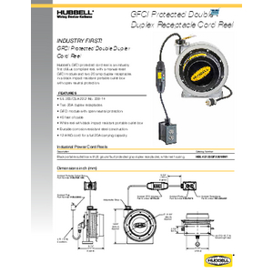 GFCI Protected Double Duplex Receptacle Cord Reel