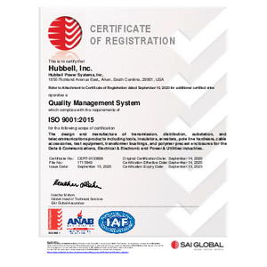 Electro Composites ISO 9001-2015 Certificate – English
