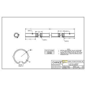 """1-1/2"""" Full Round Plastic Marker (SA0790206)"""