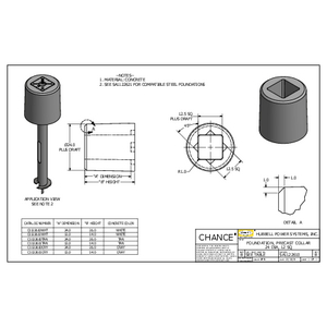 FOUNDATION, PRECAST COLLAR 24 DIA, 12 SQ (SA1122610)
