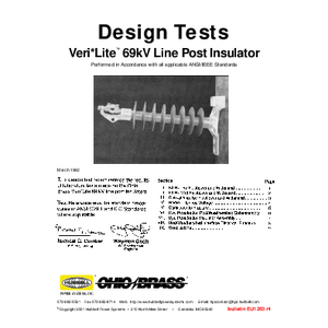Design Tests Veri*Lite 69kV Line Post Insulator (EU1283)