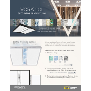Vora Decorative Center Visual Ordering Guide