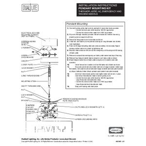 Pendant Mounting Kit User Manual