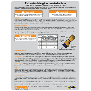 CHANCE Rubber Insulating Gloves User Instructions (07-1102-eng)